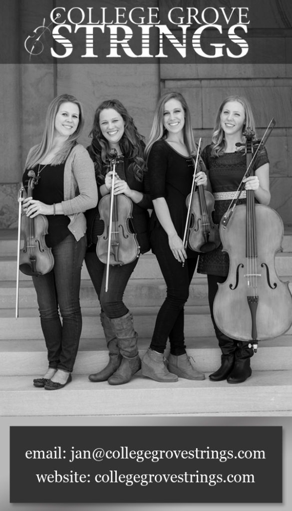 College Grove Strings Contact Card
